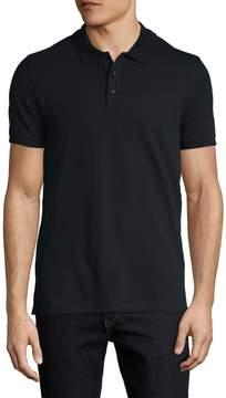 Armani Collezioni Men's Solid Cotton Polo Shirt