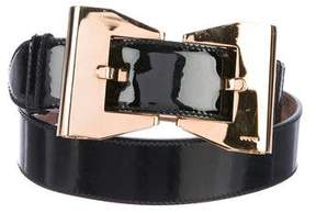 Gucci Patent Leather Bow Belt