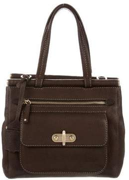 Tod's Leather Bar Frame Tote