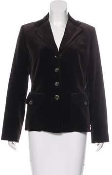 Celine Velvet Structured Blazer