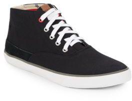 Ben Sherman Suede-Trimmed Canvas Sneakers