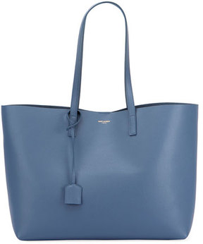 Saint Laurent Large Shopping Tote Bag - LIGHT BLUE - STYLE