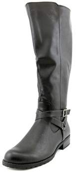 Style&Co. Style & Co Brigyte Wide Calf Women Round Toe Synthetic Black Knee High Boot.