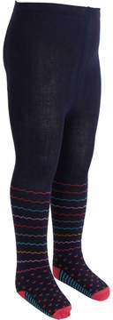 Catimini Knitted Navy Patterned Tights
