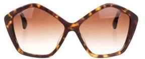 Miu Miu Tortoiseshell Oversize Sunglasses