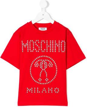 Moschino Kids studded logo T-shirt
