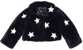MonnaLisa Stars Patches Faux Fur Jacket