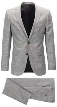 BOSS Hugo Wool Silk Linen Suit, Slim Fit Novan/Ben 40R Open Grey