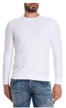 H953 Men's White Cotton Sweater.