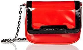 Armani Exchange A|X Small Patent Crossbody Bag