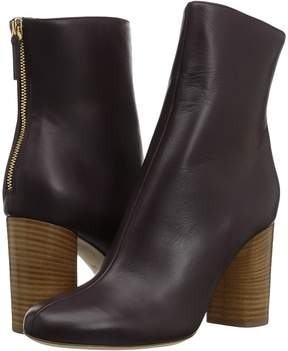 M Missoni Solid Leather Bootie Women's Boots
