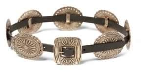 Ralph Lauren Leather Concho Belt Black L
