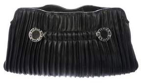 Bvlgari Leather Pleated Clutch