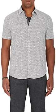 John Varvatos Men's Clover-Print Cotton Poplin Shirt