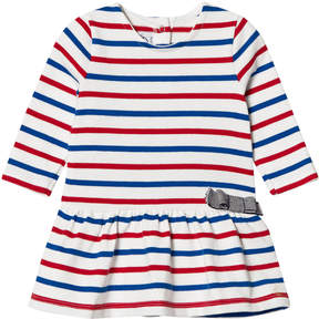 Petit Bateau Red White And Blue Striped Dress