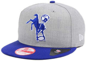 New Era Indianapolis Colts Heather 2-Tone 9FIFTY Snapback Cap