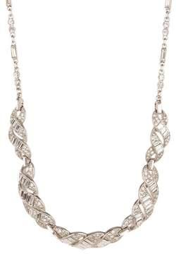 Ben-Amun Crystal Deco Intertwined Bib Necklace