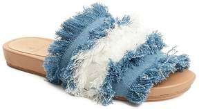 Bill Blass Megan Mixed Denim Sandals