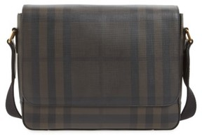 Burberry Men's Edgware Check Messenger Bag - Brown