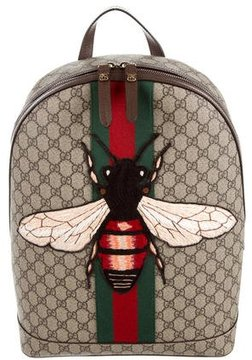 Gucci 2016 Web Animalier Bee Backpack - BROWN - STYLE