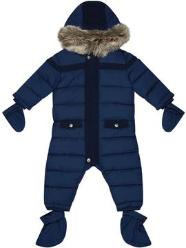 Tartine et Chocolat Faux Fur Hooded Snowsuit