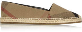 Burberry Checked Canvas Espadrilles - Beige