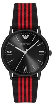 Emporio Armani Nato Stripe Strap Watch, 43Mm