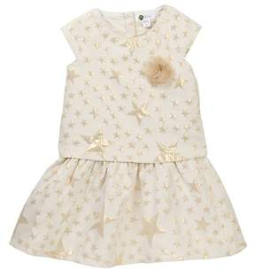 Petit Lem Woven Star Print Dress (Toddler & Little Girls)