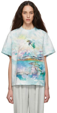 Stella McCartney Blue and White Dolphin T-Shirt