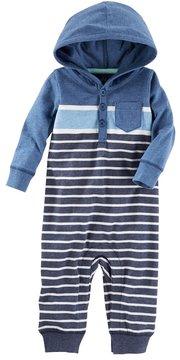Osh Kosh Baby Boy Striped Hooded Coverall
