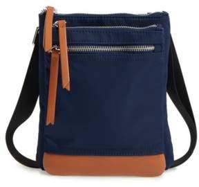 Lodis Zora Rfid Nylon & Leather Crossbody Bag - Blue