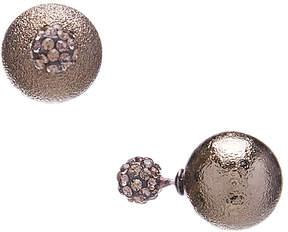 Carole Crystal & Goldtone Reversible Stud Earrings