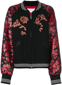 Rodarte floral print bomber jacket