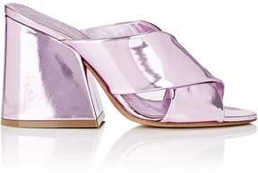 Maison Margiela Women's Angled-Heel Specchio Leather Mules