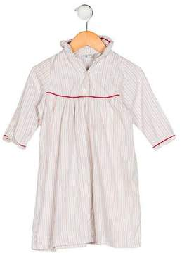 Papo d'Anjo Girls' Striped Long Sleeve Night Gown