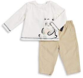 Absorba Baby's Two-Piece Panda Cotton Top & Pants Set