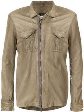 Giorgio Brato creased zipped jacket