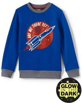 Lands' End Lands'end Boys Husky Graphic Crewneck Sweatshirt