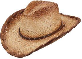 Scala Women's LR691 Pinch Cowboy Hat with Whip Stitch