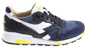 Diadora Heritage Men's Blue Synthetic Fibers Sneakers.