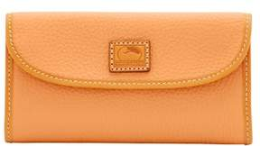 Dooney & Bourke Patterson Leather Continental Clutch Wallet - APRICOT - STYLE