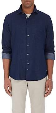 Hartford Men's Pin-Dot Cotton Twill Button-Front Shirt