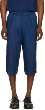 Blue Blue Japan Indigo Linen Wide Shorts