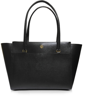 Tory Burch Parker Small Leather Tote Bag - BLACK - STYLE