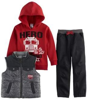 Nannette Toddler Boy 3-pc. Hero Hoodie