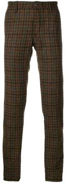Incotex skinny checked trousers