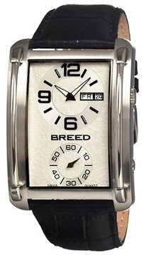 Breed Men's Aston Watch with Crocodile Embossed Leather Strap