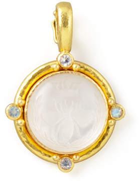 Elizabeth Locke Rock Crystal Queen Bee Intaglio Pendant