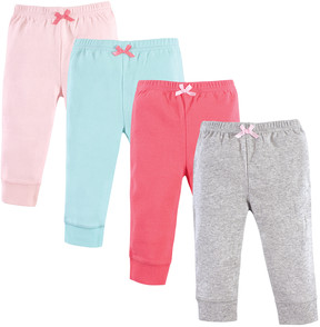 Luvable Friends Coral & Aqua Joggers - Set of Four