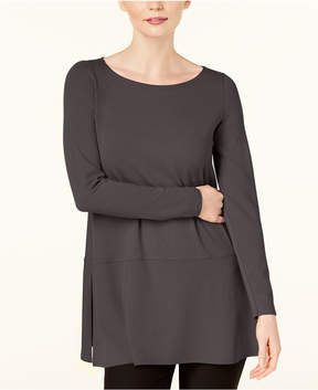 Eileen Fisher Stretch Jersey Side-Slit Tunic, Created for Macy's